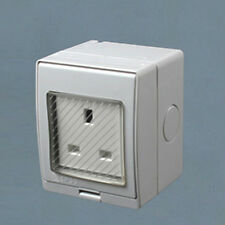 Waterproof Outdoor 13A Storm Switched Single Socket IP55 Outside Use