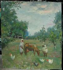 "Oil Painting ""Village"" I.Gorovoj Ukraine Socialist Realism 60th!"