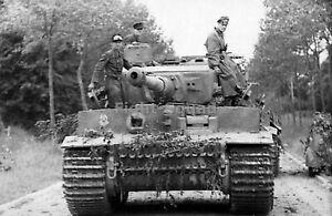 WW2 Picture Photo Villers-Bocage France Jun 1944 German Tiger I heavy tank 2499