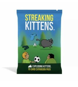 Streaking Kittens: Exploding Kittens Card Game Expansion - Brand New Sealed