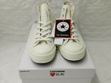 Converse x Comme des Garcons CDG Play All Star Chuck Taylor 70 White Red UK 4