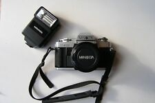 MINOLTA X-300 35mm film SLR camera with Miranda 400CB Flash