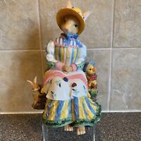 """Discontinued Fitz & Floyd Old World Rabbits Music Mother Works 8.5"""" Tall"""