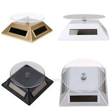 Solar Showcase 360 Turntable Rotating Jewelry Watch Ring Display Stand 037 hv2n