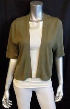 LANE BRYANT NEW Taupe Brown Linen Blend Open Front Thin Shrug Sweater sz 14/16