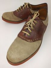 Walk Over 111068 Mens Shoes Oxfords US 8.5 B Brown Suede Leather Work 4785