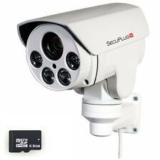 CCTV 1080P Mini Outdoor IR Bullet IP PTZ Camera 10x Optical zoom POE 2M HD 8GB
