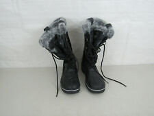 Khombu Womens Winter Snow Boots Black Size 9M