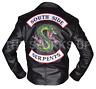 New Mens Riverdale Southside Serpents Jughead Jones Embroidery Leather Jacket