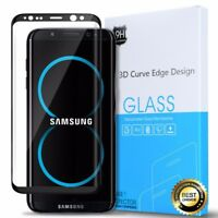 For Samsung Galaxy S8 Plus Tempered Glass Screen Protector 3D Curved Edge Black