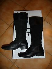 botte cuir et daim noir femme fille pointure 36 chaussure hiver 79.99€