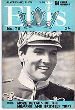 ELVIS 78 ANNEE 1966 (EN ANGLAIS) MYTHIQUE TRES RARE SUPERBES PHOTOS TBE
