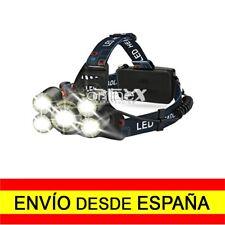 Luz Linterna para Cabeza Casco Diadema LED 5x CREE T6 8000 Lm Envío 48/72H a3403