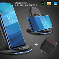 For Samsung Galaxy Note 10/9 Plus S10/S9 5G Qi Wireless Fast Charger Stand Dock