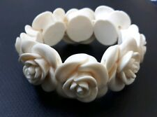 New Topshop cream rose, stretch bangle.