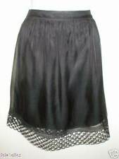 New Elie Tahari DARCY Black Silk Skirt Cutout Detail at Hem 8 $498 NWT