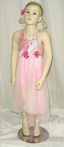 Group LOT of 6 Child 4C Lyrical Ballet Dance Dress Costume Whipser Pink