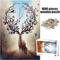 1000 Pieces Elk Jigsaw Puzzle Adults Kids Assembling Puzzles Decompress Toys