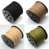 2m of 100/% Real Suede Leather Cord 3mm Flat Rustic String ✄ Olive Green ✄ C2O