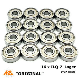 16 x K2 ILQ-7 ILQ7 KUGELLAGER TWINCAM BEARINGS LAGER High Performance TYP 608Z
