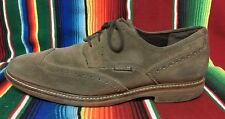 Mephisto .. Air Jet ..  gray suede wingtip shoes .. Men's US 9 1/2