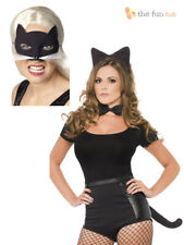 Ladies Sexy Cat Ears Tail Whiskers Mask Set Fancy Dress Costume Kit Women Outfit