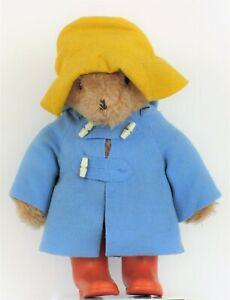 "VINTAGE 1975 PADDINGTON BEAR EDEN TOYS TEDDY BEAR PLUSH DOLL RAIN BOOTS HAT 18"""