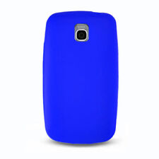 For LG thrive Rubber Silicone Soft Gel Skin case Phone Cover Blue