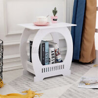 Mini Nightstand Bedside End Table Organizer Wood Storage White Coffee Tea   9