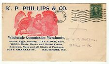 1906 1-cent printed matter advertisement with turkeys, K.P. Phillips & Co. (300)