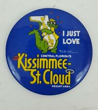 Vintage Kissimmee St. Cloud Florida Pinback Souvenir Button