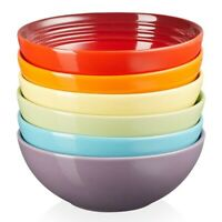 "Le Creuset Stoneware 6.25"" Cereal Soup Bowl 22 fl oz - Multi Colors~YOU CHOOSE!"