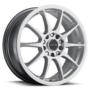 15X6.5 Vision 425 Bane 5x100/5x114.3 ET38 Hyper Silver Wheel (1)
