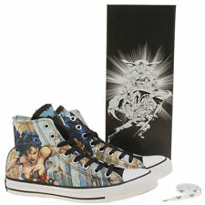 Converse Women's Pale Blue All Star Wonder Woman Hi Trainers Size UK 3,4,5,6