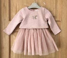 NEXT BEAUTIFUL BABY GIRLS DRESS 9-12m DRESS BUNNY DETAIL TULLE AGE 9-12 MONTHS