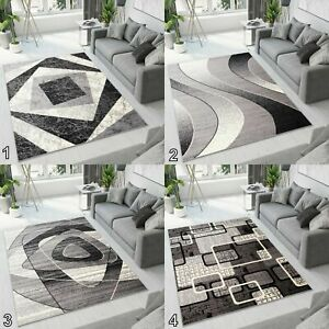 TAPISO BEAUTIFUL MODERN RUGS TOP DESIGN ! CARPETS in Different Sizes ! GREY !
