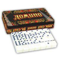 "Brettspiel Domino ""Hochloma"" MetalGeschenkBox Домино ""Хохлома"" в металлической R"