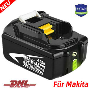4AH Für Makita Akku BL1860 18V Li-Ion BL1850 LXT BL1830 BL1840 B mit Led Anzeige