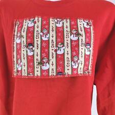 Quacker Factory Let It Snow Snowmen Large Sweatshirt
