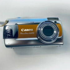 Canon PowerShot A470 7.1MP Digital Orange Camera Wrist Strap Pocket Size - Used