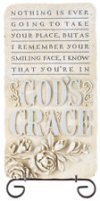 "Grasslands Road ""God's Grace Wall Plaque with Stand, 9 1/4"" x 5"""