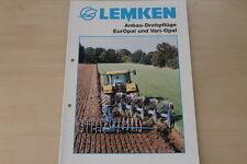 158078) Lemken Anbaudrehpflug EurOpal VariOpal Prospekt 10/2001