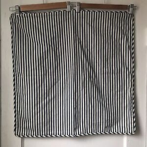 Pottery Barn Blue And Off White Striped Large Pillow Case 24x24 inches
