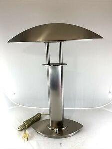New Holtkoetter Leuchten Brushed Steel Germany Table Lamp Dimmable Holtkotter