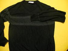 SIZE XL MEN'S LIGHT BLACK V NECK VINTAGE SWEATER BY PURITAN CASH MIST