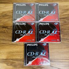 More details for x5 philips cd-r q audio recordable discs 80 min sealed new - for cd recorders