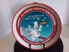 "Rare Italy Metal PEDRINI Restaurant Serving Tray ""Pedrini Le Famose Palette"" 12"""