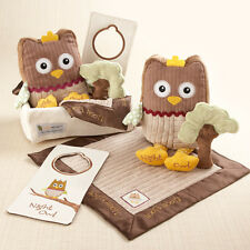 My Little Night Owl Five-Piece Gift Set in Keepsake Basket Baby Shower Gift