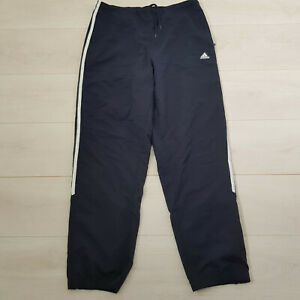 ADIDAS Joggers Track Suit Trousers Size 16 W30 L30 Navy Elastic Waist Drawstring