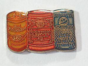 Old Milwaukee, Budweiser Light, Schlitz 3 Can Beer Pin (#3) **